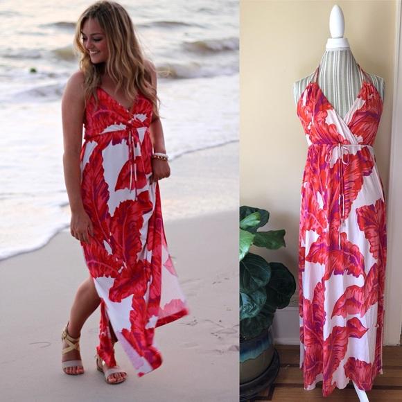 45ec27925cf83 Banana Republic💕Milly Palm Leaf Print Halter Maxi.  M 5b2bf95a409c15081b9ceb65. Other Dresses ...